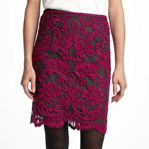 Anthropologie Yoana Baraschi embroidered skirt